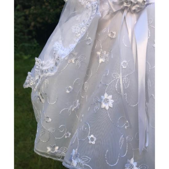 Robe De Bapteme Bebe Fille Organza Blanc Princesa Fr