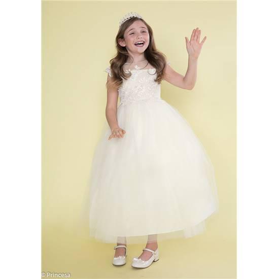 Robe de communion volumineuse en tulle fille et ado