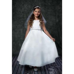 Robe Communion Chic Fille en Satin