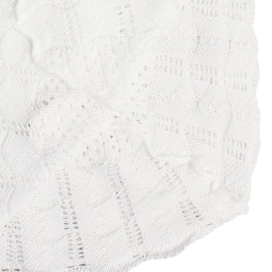 Lange drap de baptême en jersey tricot crochet