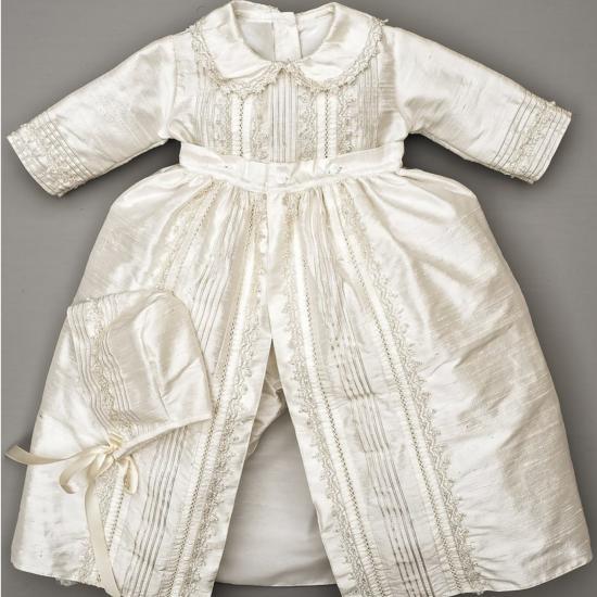 newest collection the cheapest cozy fresh Robe de baptême traditionnelle garçon en soie