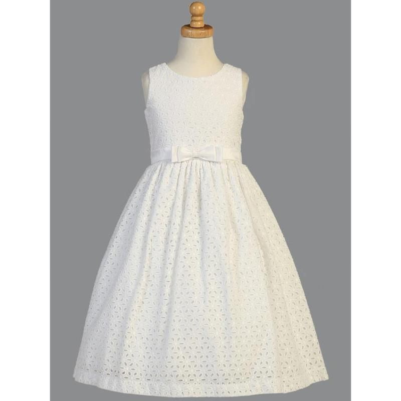 Robe en broderie anglaise pour communion