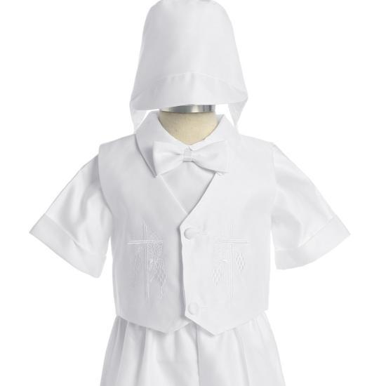 Bébé Garçon//Fille Blanc Baptême Baptême Chaussettes avec croix